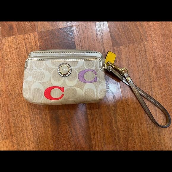 Authentic Coach wristlet wallet